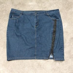 Lane Bryant Zipper Denim Skirt